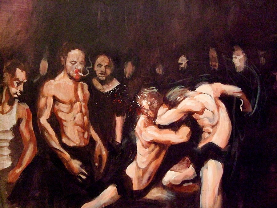 Fight Painting - Untitled by Chris  Slaymaker
