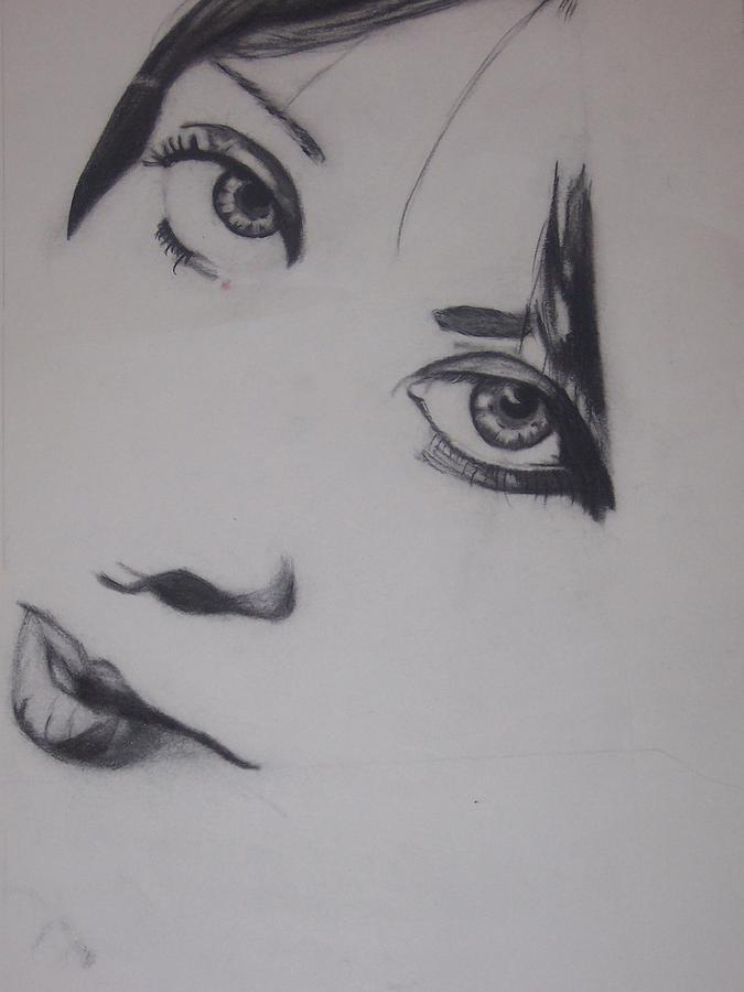 Eyes Drawing - Untitled by Nichelle Taylor