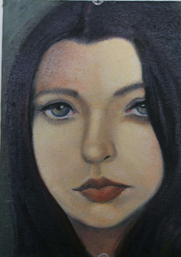 Girl Painting - That Stare by Toni Berry