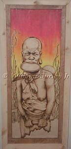 Pyrography Mixed Media - Untitled 2 by William Burton Jr