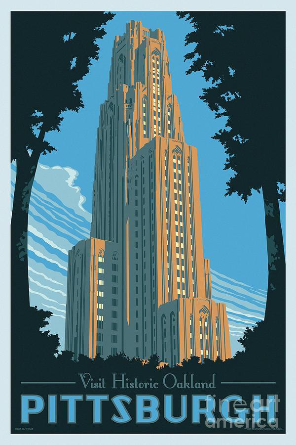 Pittsburgh Digital Art - Pittsburgh Poster - Vintage Style by Jim Zahniser