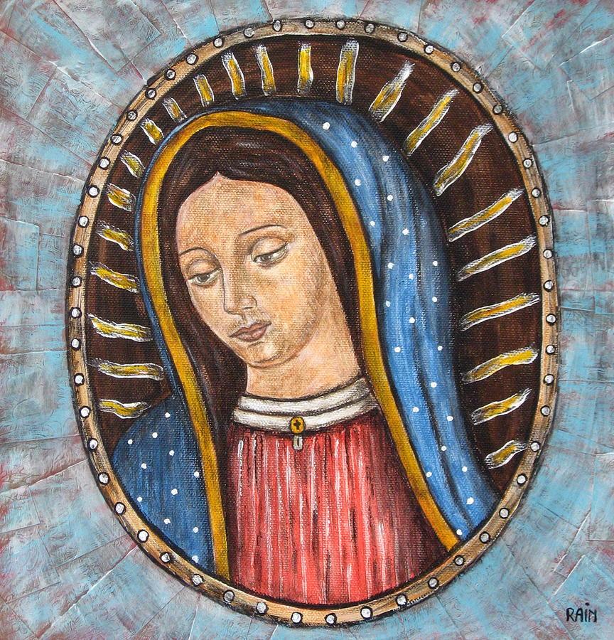 Virgen De Guadalupe Painting By Rain Ririn
