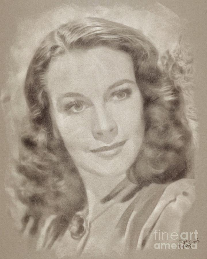 Vivien Leigh Hollywood Actress Drawing