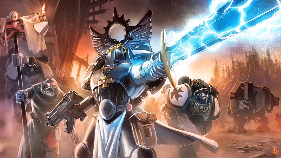 Warhammer 40k Digital Art - Warhammer 40k by Lucie Malecot