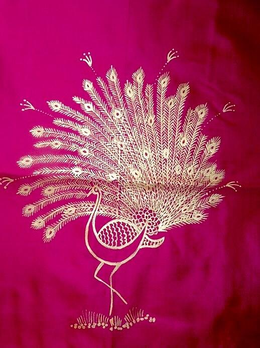 Peacock Painting - Warli Peacock  by Meena Patankar