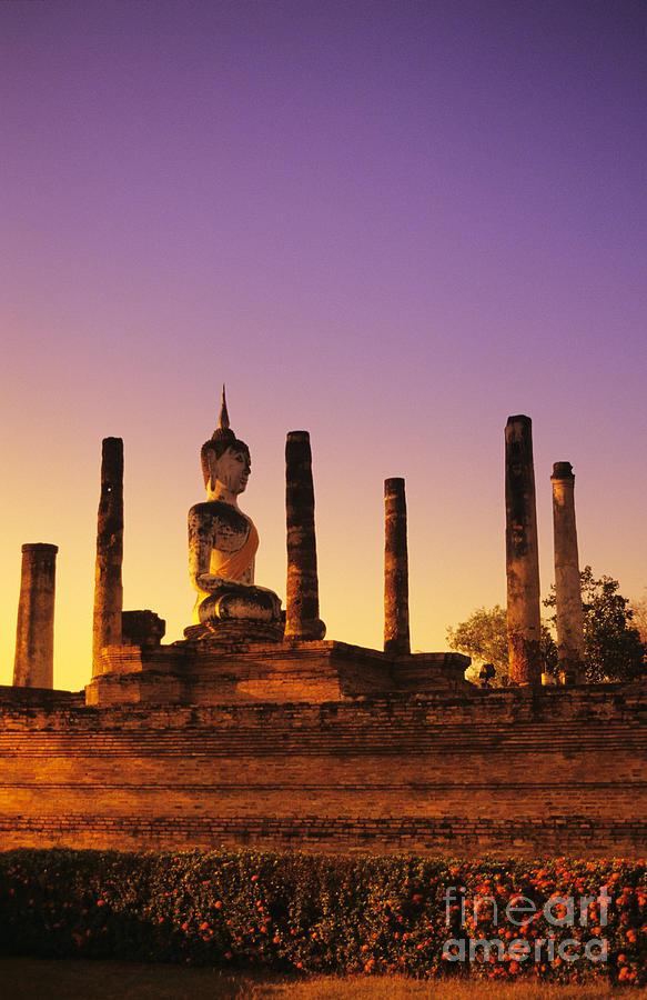 Ancient Photograph - Wat Mahathat by Gloria & Richard Maschmeyer - Printscapes