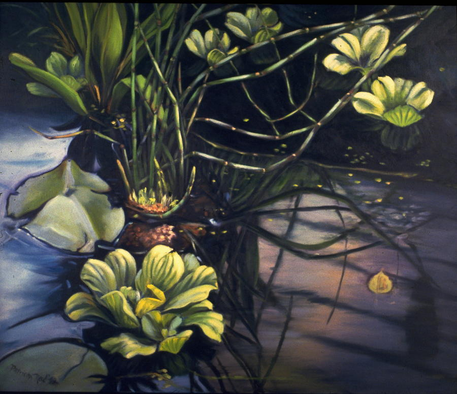 Landscape Painting - Water Garden Series-j by Patricia Reed