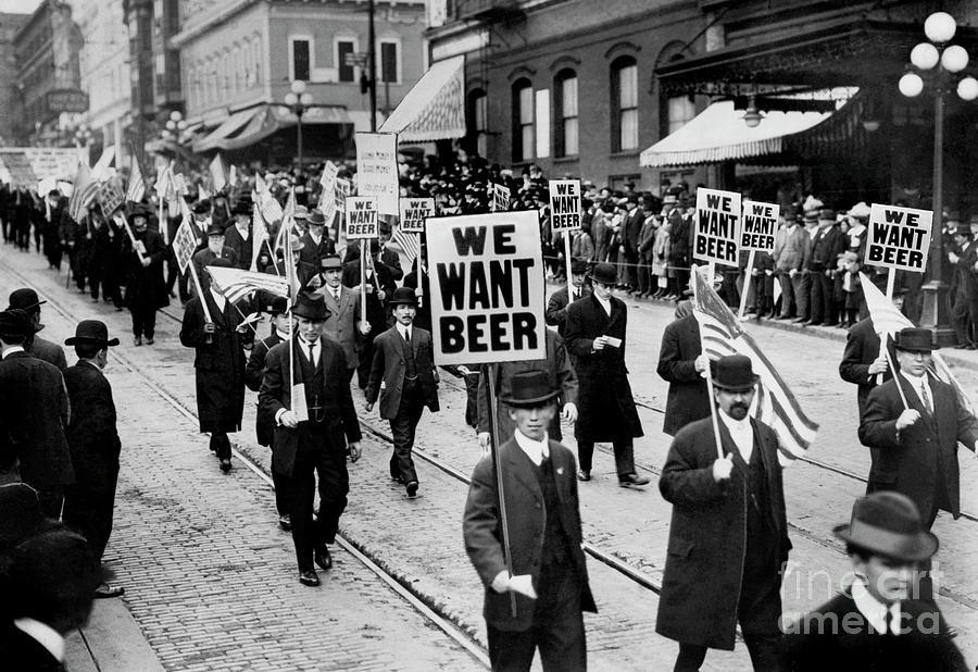 Prohibition Photograph - We Want Beer 2 by Jon Neidert
