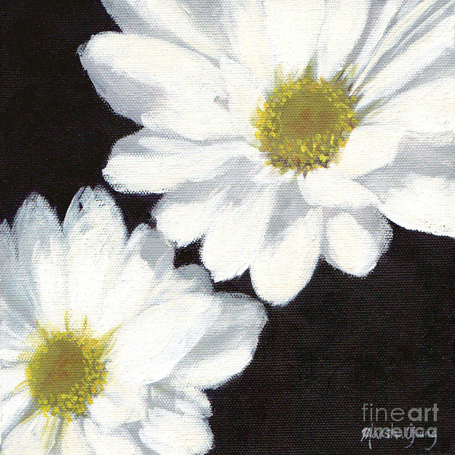 Daisies Painting - White Daisies by Marsha Young