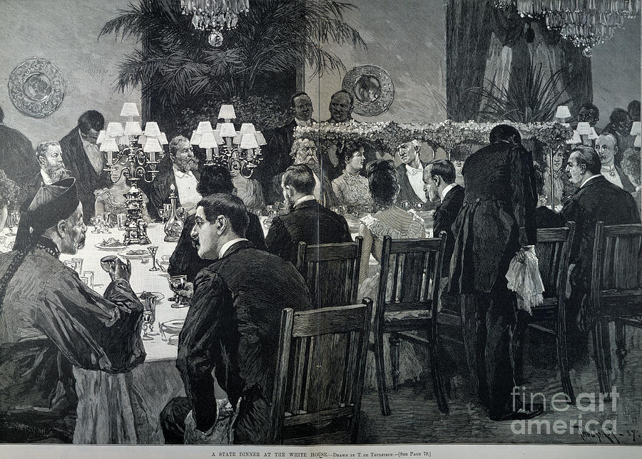 1888 Photograph - White House: State Dinner by Granger