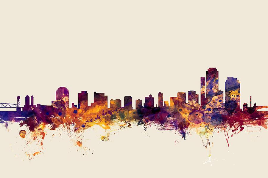 United States Digital Art - Wilmington Delaware Skyline by Michael Tompsett