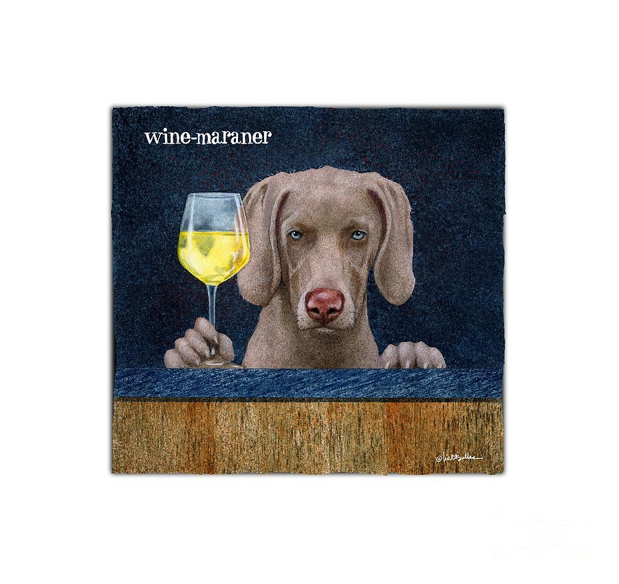 Will Bullas Painting - Wine-maraner by Will Bullas