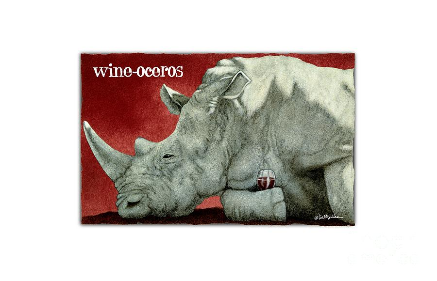 Will Bullas Painting - Wine-oceros by Will Bullas
