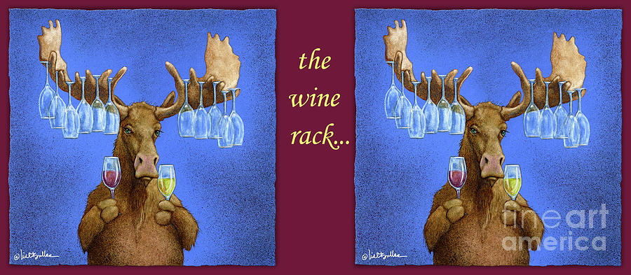 Will Bullas Painting - Wine Rack... by Will Bullas