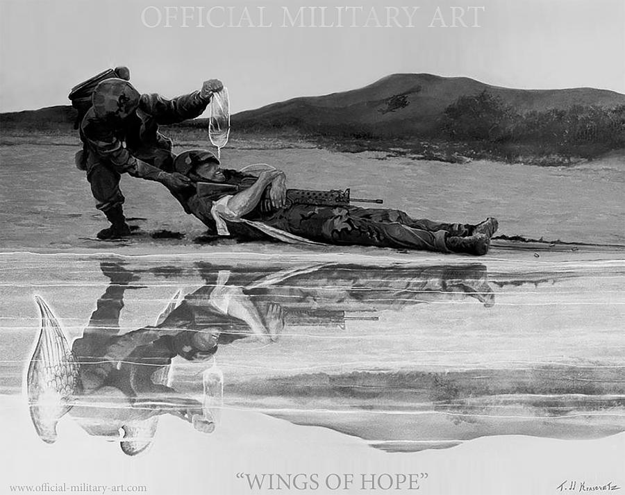Wings Of Hope Painting by Todd Krasovetz