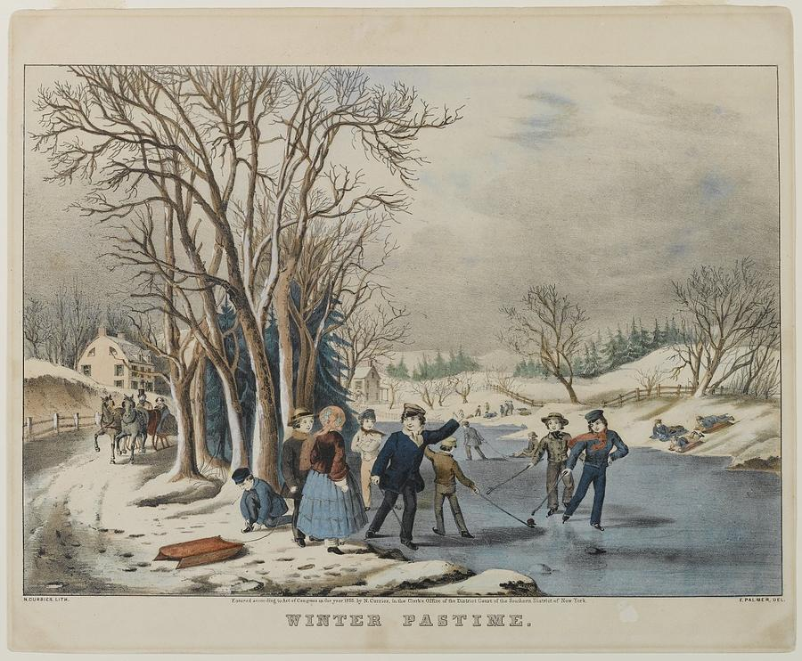 1855 Painting - Winter Pastime by MotionAge Designs