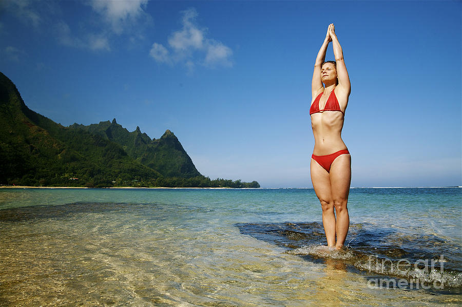 Attraction Photograph - Woman Doing Yoga by Kicka Witte - Printscapes