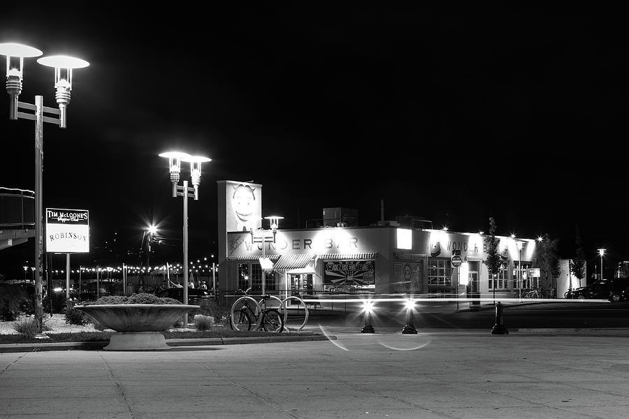Asbury Photograph - Wonder Bar At Night by Erin Cadigan