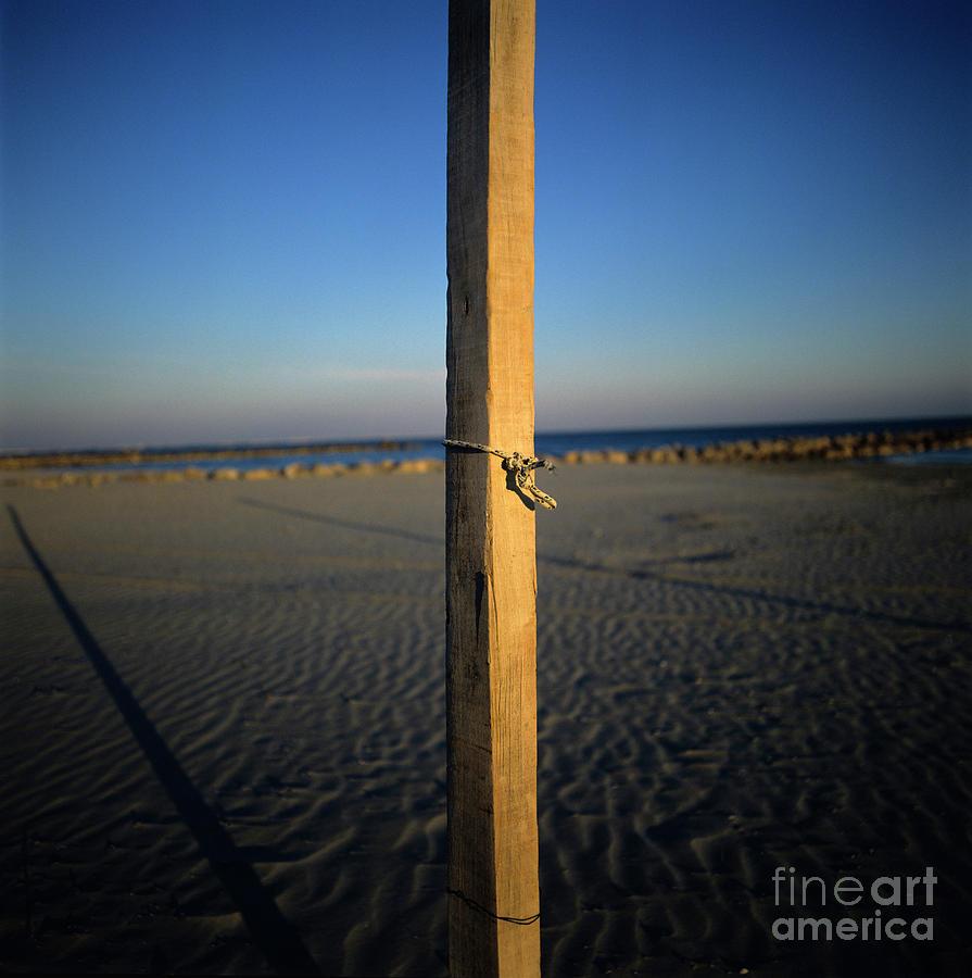 Bank Photograph - Wooden Post by Bernard Jaubert