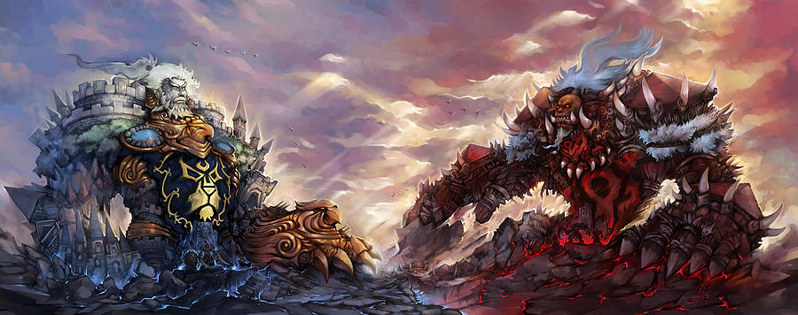 world of warcraft digital art by angie fraley