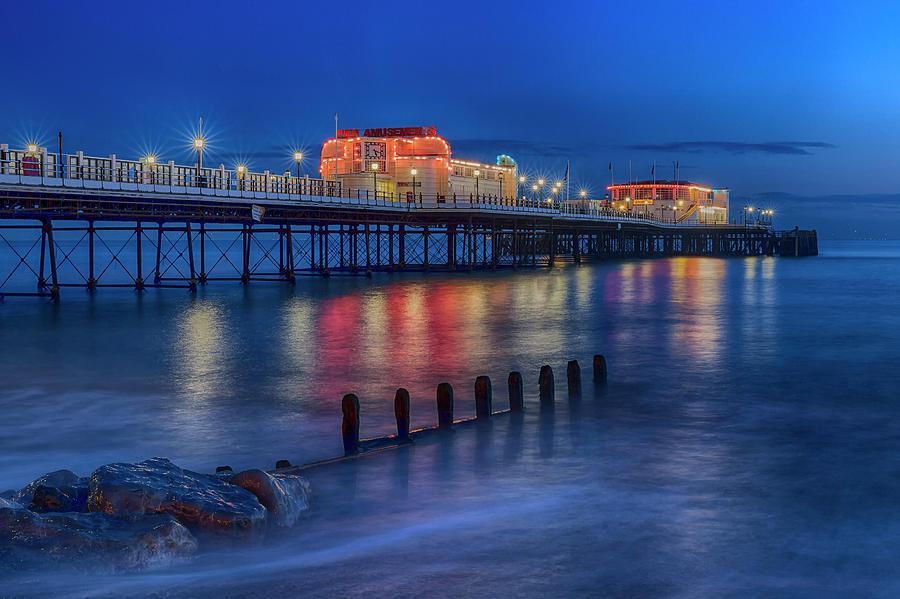 Worthing Pier Evening by Len Brook