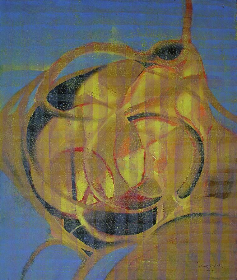 Abstract Painting - Yellow Meditation by Sagar Talekar