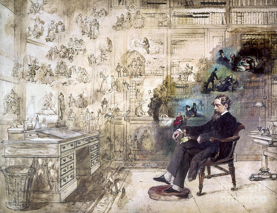 1870s Photograph - Charles Dickens (1812-1870) by Granger