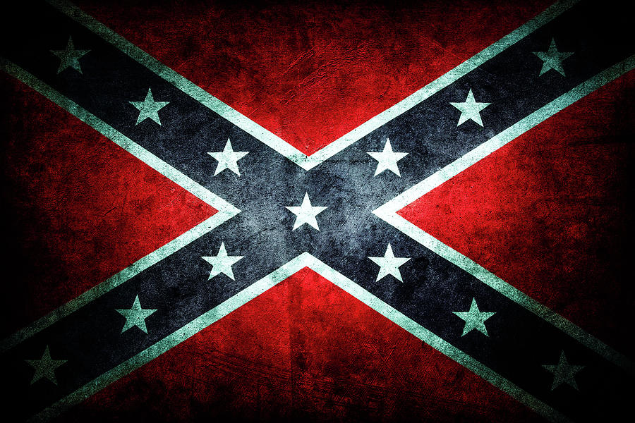 Aged Photograph - Confederate flag 18 by Les Cunliffe