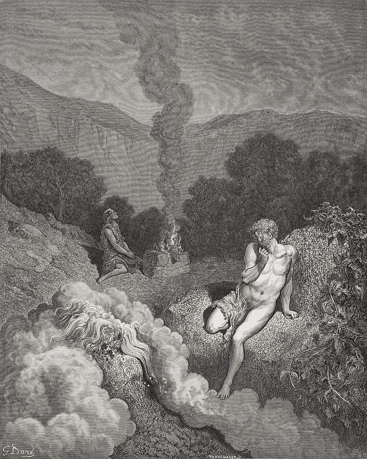 Engraving From The Dore Bible Drawing By Vintage Design Pics