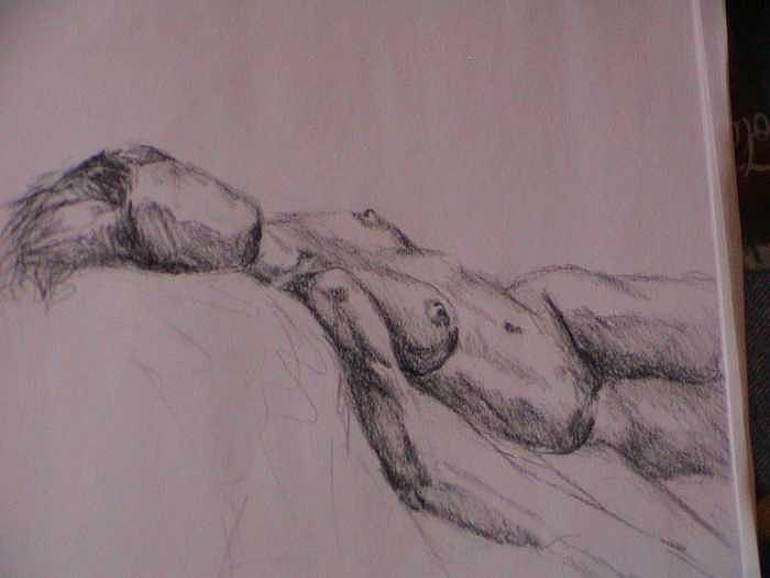 20 Minute Figure Drawing Drawing by Neil Grotzinger