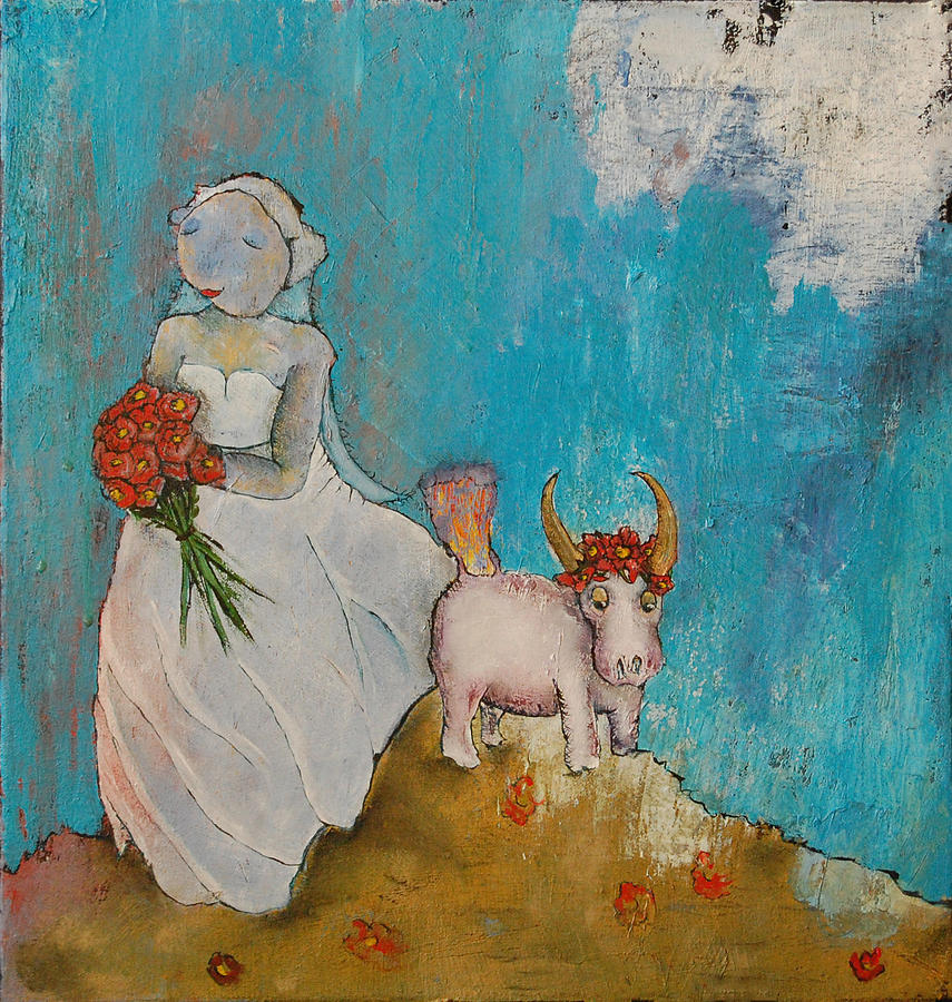 Bride Painting - Untitled 20 by Abigail Lee Goldberger