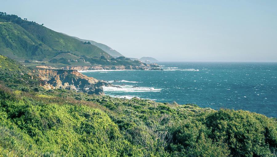 Usa Photograph - Western Usa Pacific Coast In California by Alex Grichenko