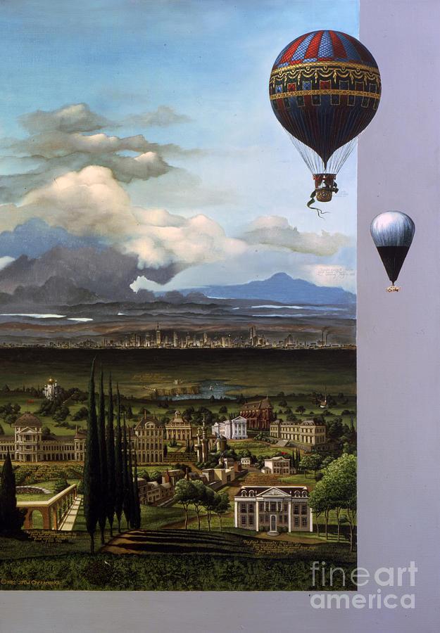 Ballooning Painting - 200 Years Of Ballooning by Jane Whiting Chrzanoska