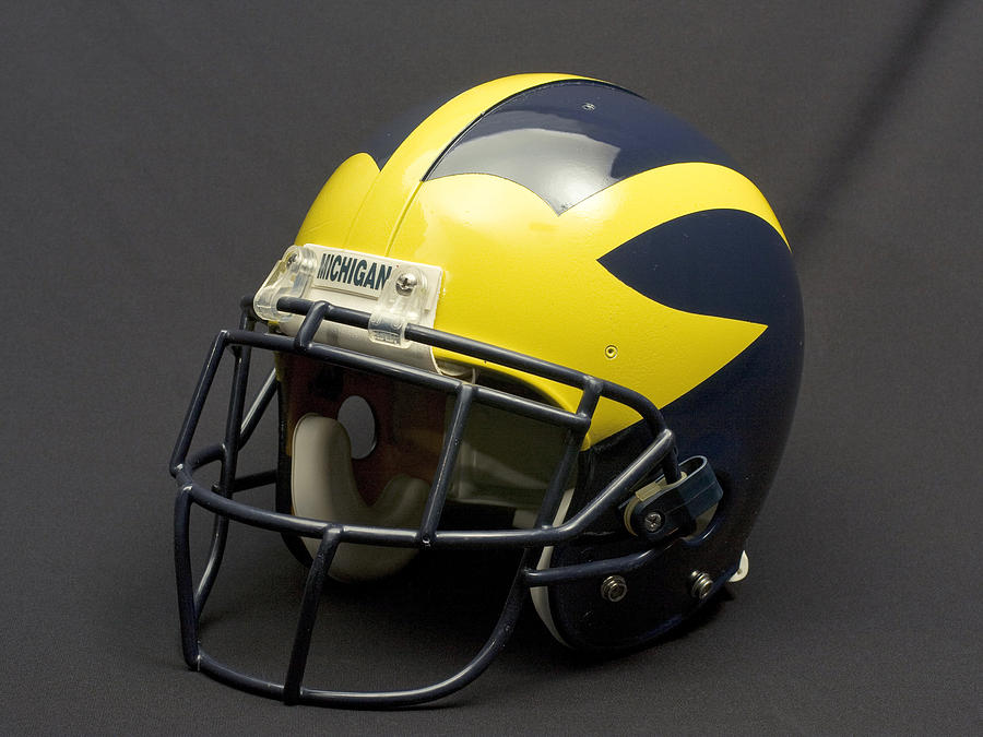 2000s Era Wolverine Helmet by Michigan Helmet