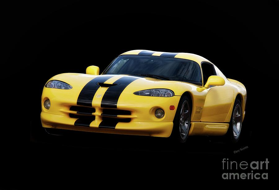 Auto Photograph - 2001 Dodge Viper methenol Injected  by Dave Koontz