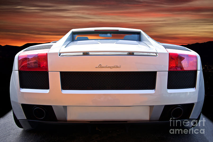 2004 lamborghini gallardo rear view photograph by dave koontz. Black Bedroom Furniture Sets. Home Design Ideas