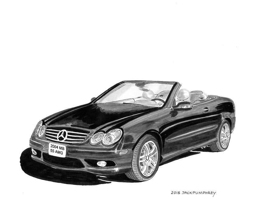 2004 mercedes benz 55 amg painting by jack pumphrey for Mercedes benz jack