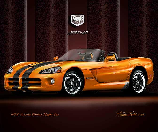 2005 dodge viper vca raffle edition mixed media by danny whitfield. Black Bedroom Furniture Sets. Home Design Ideas
