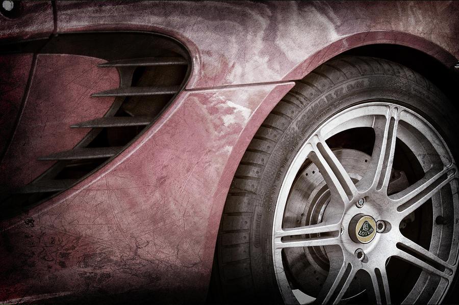 Car Photograph - 2005 Lotus Elise Wheel Emblem -1694ac by Jill Reger