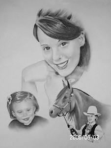 Pencil Drawing - 2006 Trista by Wanda Edwards