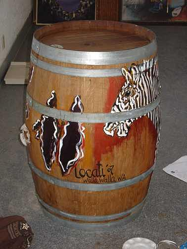 2007 Walla Walla Wine Barrell Mixed Media by Lila Witt Locati