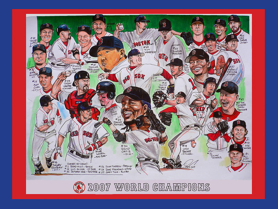 Mbl Painting - 2007 World Series Champions by Dave Olsen