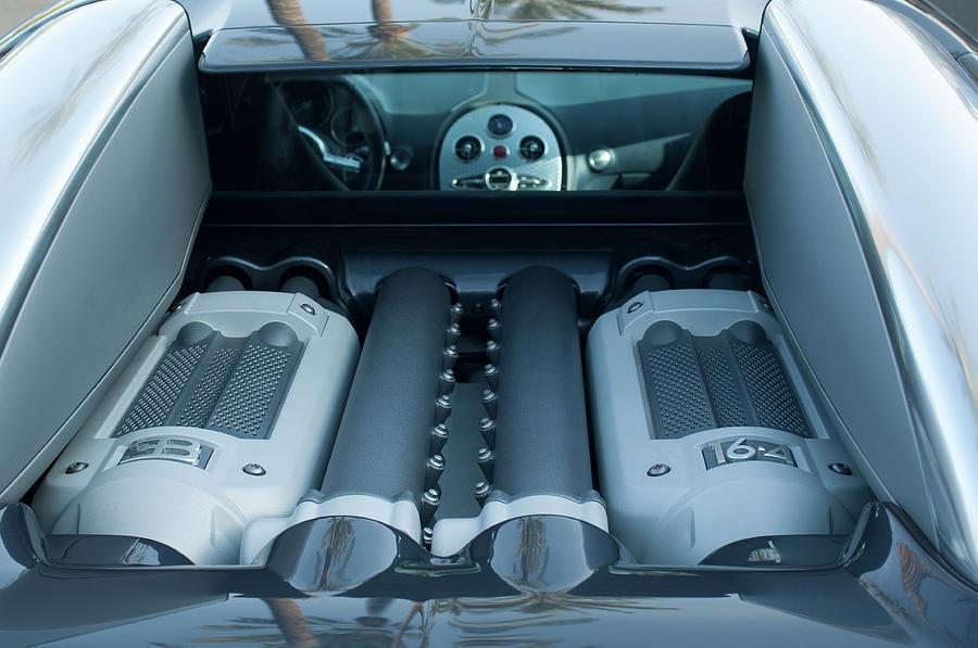 2008 Bugatti Veyron Engine Photograph By Jill Reger