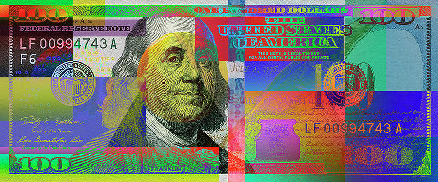 2009 Series Pop Art Colorized U. S. One Hundred Dollar Bill No. 1 by Serge Averbukh