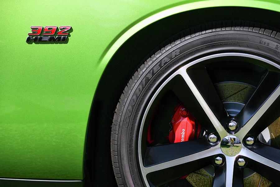 2011 Photograph - 2011 Dodge Challenger Srt8 392 Hemi Green With Envy by Gordon Dean II