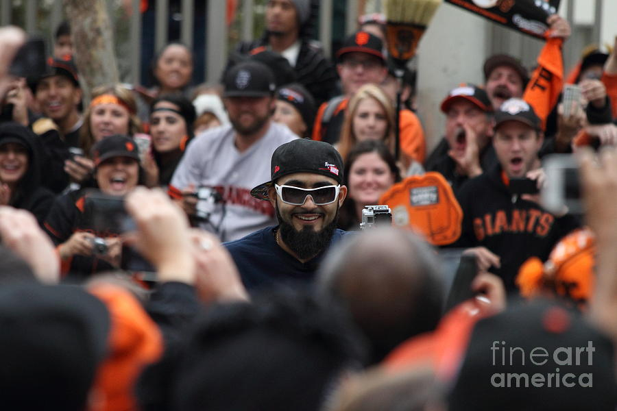 Sport Photograph - 2012 San Francisco Giants World Series Champions Parade - Sergio Romo - Dpp0007 by Wingsdomain Art and Photography