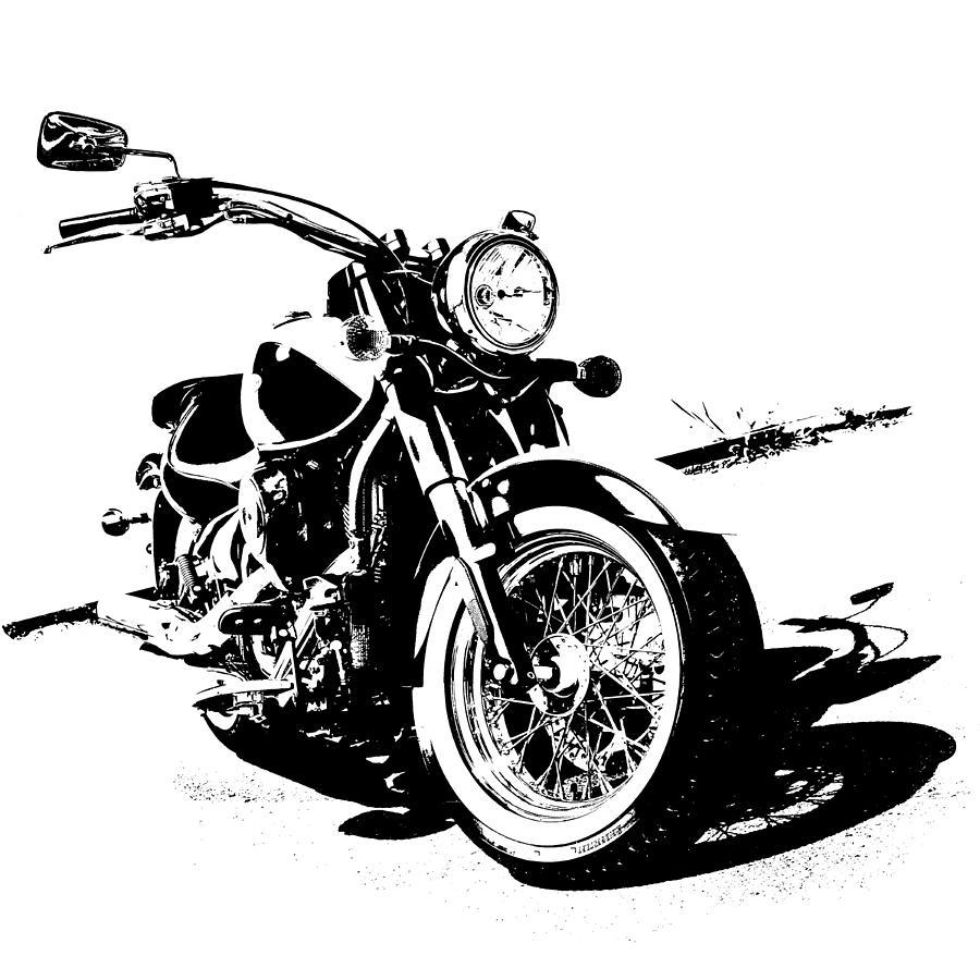 2013 Digital Art - 2013 Kawasaki Vulcan Classic Graphic by Melissa Smith