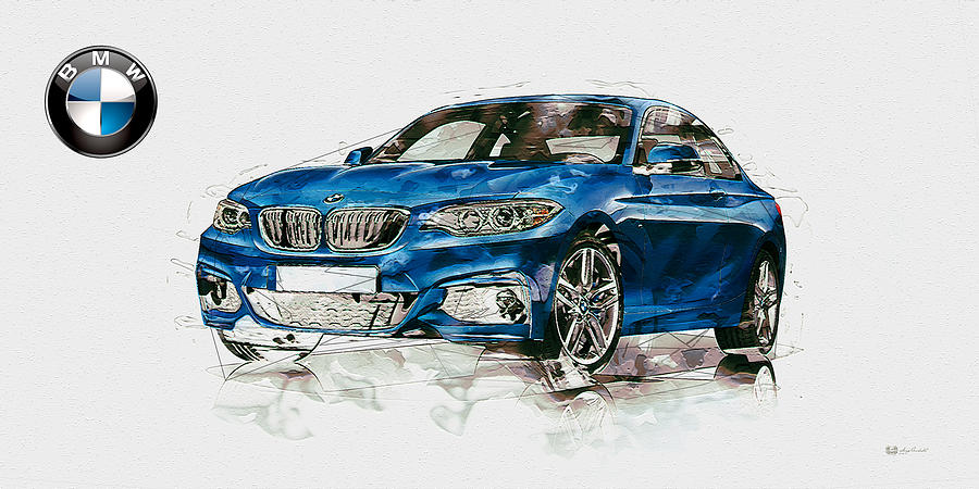 Bmw Logo Photograph - 2014 B M W 2 Series Coupe With 3d Badge by Serge Averbukh