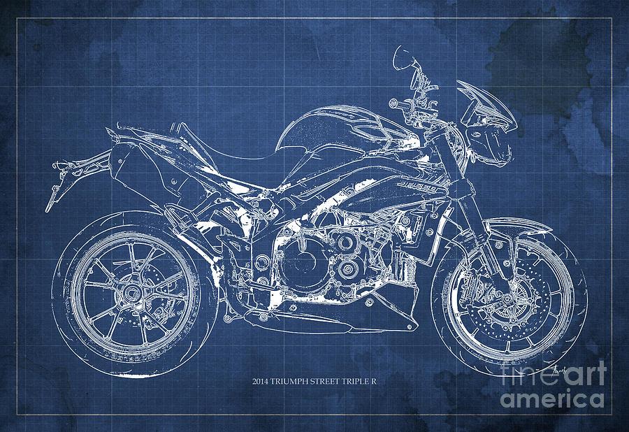 2014 triumph street triple r motorcycle blueprint for man for Man cave blueprints