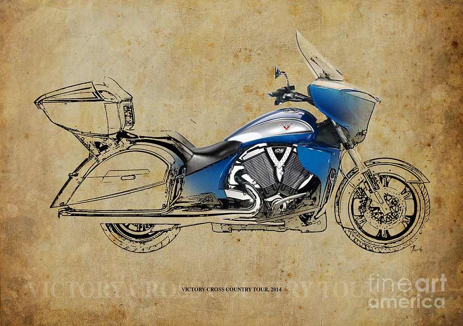 Victory Drawing - 2014 Victory Cross Country Tour by Drawspots Illustrations